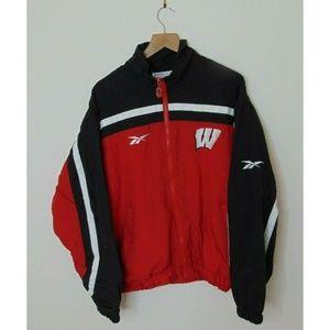 Vintage 90s Reebok M UW Windbreaker Jacket Black